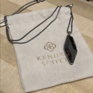 Kendra Scott Gunmetal Necklace